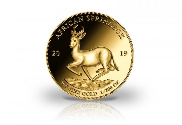 Goldmünze 1/200 oz African Springbok 999 Gold