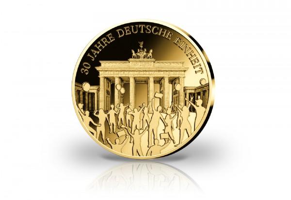 Goldausgabe 1/10 oz 30 Jahre Deutsche Einheit PP im Etui