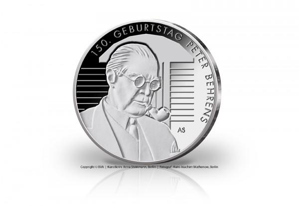 BRD 20 Euro Silbermünze 2018 st 150. Geburtstag Peter Behrens
