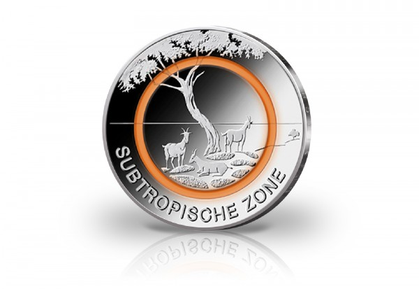 Ihre Reservierung für BRD 5 Euro 2018 PP u. Wahl Subtropische Zone