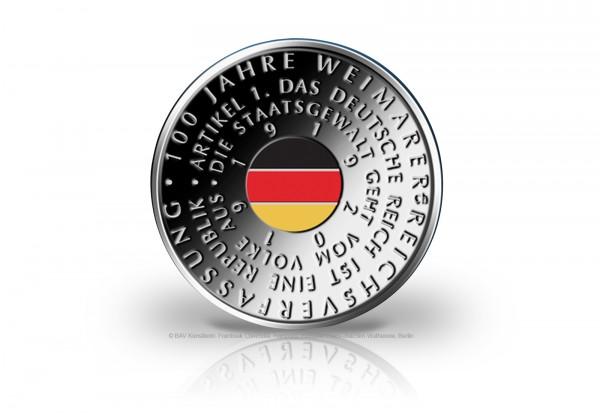 20 Euro Silbermünze 2019 Deutschland 100 Jahre Weimarer Reichsverfassung st