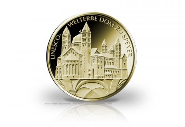 100 Euro Goldmünze 2019 Deutschland UNESCO Welterbe Dom zu Speyer Prägestätte u. Wahl