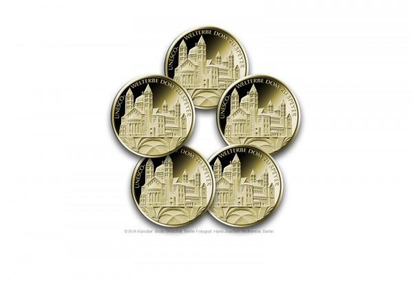 100 Euro Goldmünze 2019 Deutschland UNESCO Welterbe Dom zu Speyer Prägestätte A-J
