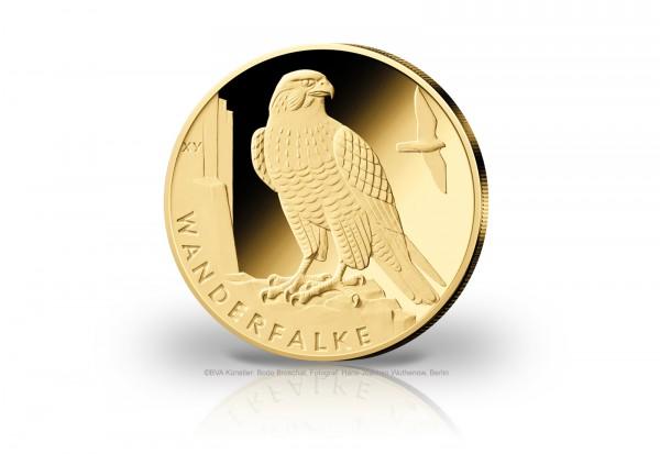 20 Euro Goldmünze 2019 Deutschland Wanderfalke Prägestätte unserer Wahl