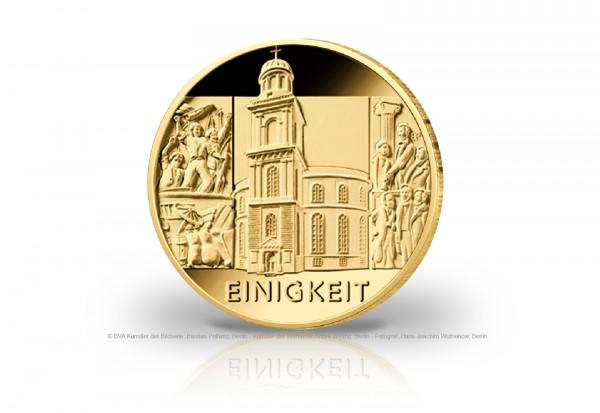 100 Euro Goldmünze 2020 Deutschland Säulen der Demokratie Einigkeit Prägestätte unserer Wahl
