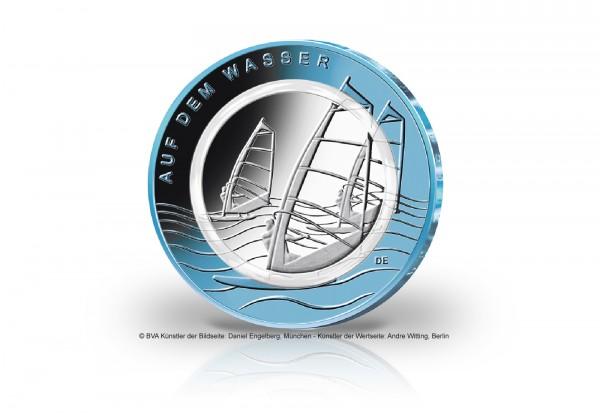10 Euro 2021 Deutschland Auf dem Wasser mit Polymerring PP Prägestätte unserer Wahl