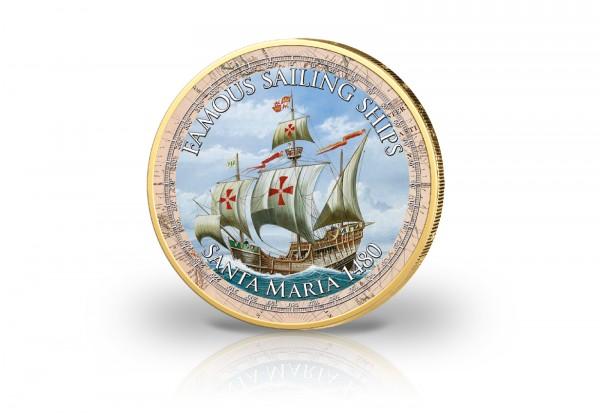 2 Euro Santa Maria 1480 in Farbe