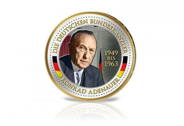 Gedenkausgabe Bundeskanzler Konrad Adenauer mit Farbapplikation