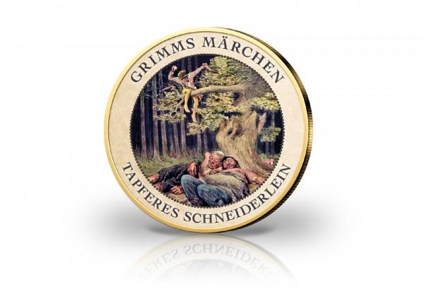 2 Euro aus der Serie Märchen der Gebrüder Grimm - Das Tapfere Schneiderlein