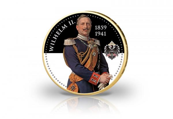 2 Euro Kaiser Wilhelm II. mit 24 Karat Goldauflage