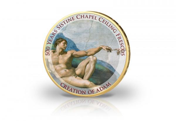 2 Euro Farbvariante - Sixtinische Kapelle - Die Erschaffung Adams