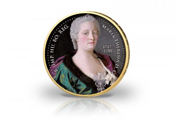 2 Euro 300. Geburtstag Maria Theresia in Farbe und 24 Karat Goldauflage