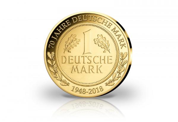 Goldausgabe 1/10 oz 70 Jahre D-Mark PP im Etui