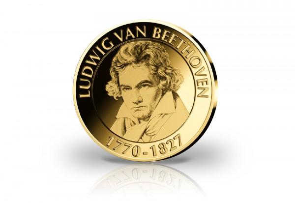 Goldausgabe 1/10 oz 250. Geburtstag Ludwig van Beethoven PP im Etui
