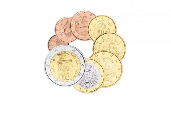 San Marino Euro-Kursmünzen im Satz