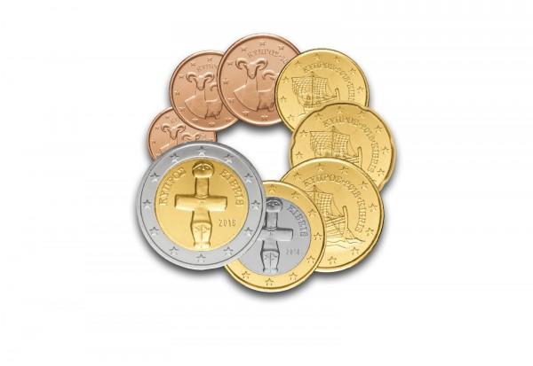 Zypern Eurosatz 2018 im hochwertigem Blister