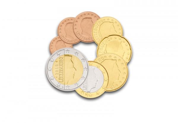 Kursmünzensatz 2018 Luxemburg im Epalux Blister