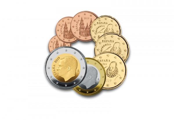 Eurosatz 2019 Spanien im Blister