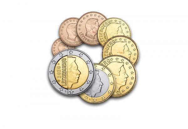 Eurosatz 2020 Luxemburg im hochwertigen Blister