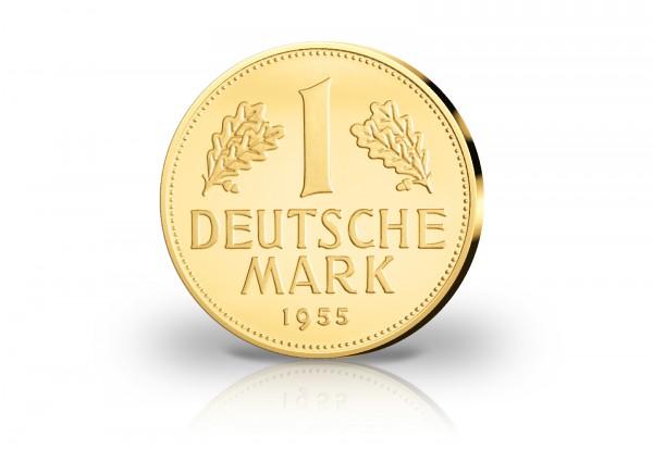Neuprägung 1 Dm Gold 1955 G 70 Jahre Dm Im Etui Gold Silber