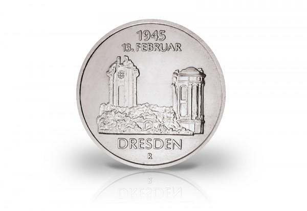 DDR 5 Mark Gedenkmünze 1985 40. Jahrestag Zerstörung Dresdens