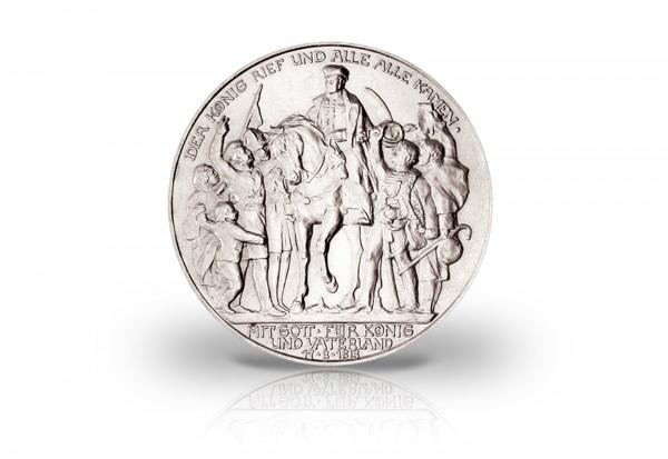 Preußen 2 Mark Silbermünze 1913 Befreiungskriege ss/vz