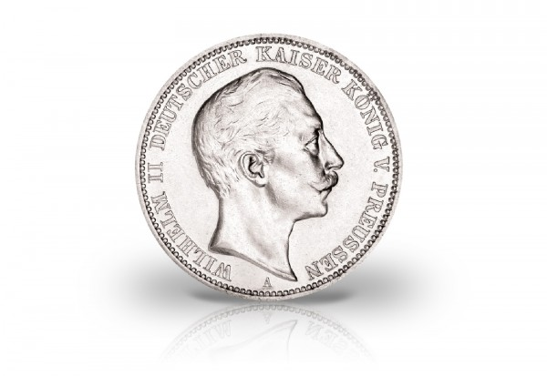 Preußen 3 Mark Silbermünze 1908-1912 Wilhelm II. Jaeger-Nr. 103