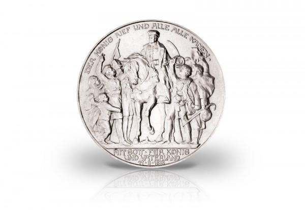 3 Mark Sibermünze 1913 Preußen Befreiungskriege