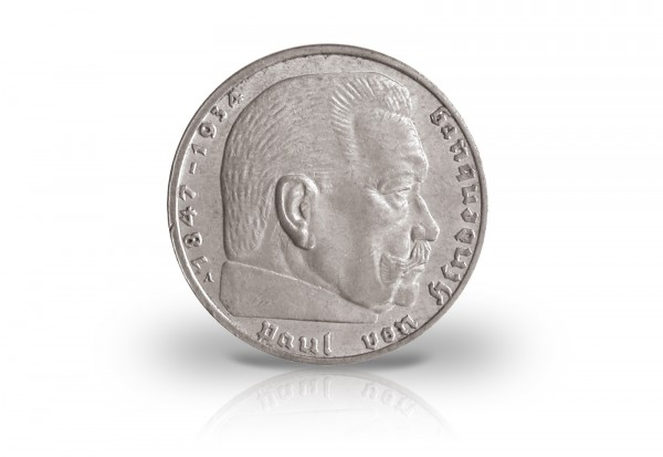 2 Reichsmark 1936 - 1939 Drittes Reich Hindenburg