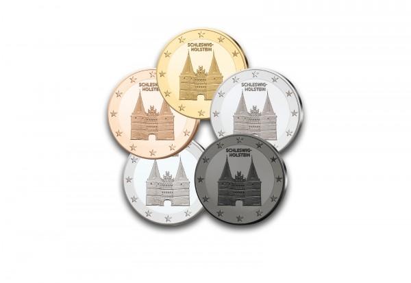 Edelmetallset Proben 2006 Schleswig-Holstein Gold, Rotgold, Platin, Silber und Ruthenium