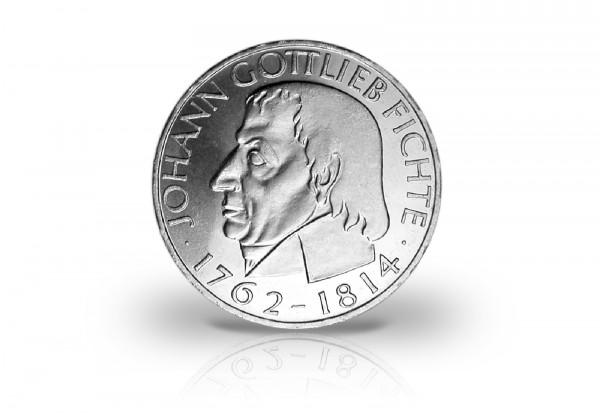 5 DM Silbermünze BRD 1964 150. Todestag Johann Gottlieb Fichte ss/vz Prägestätte J Jaeger-Nr. 393