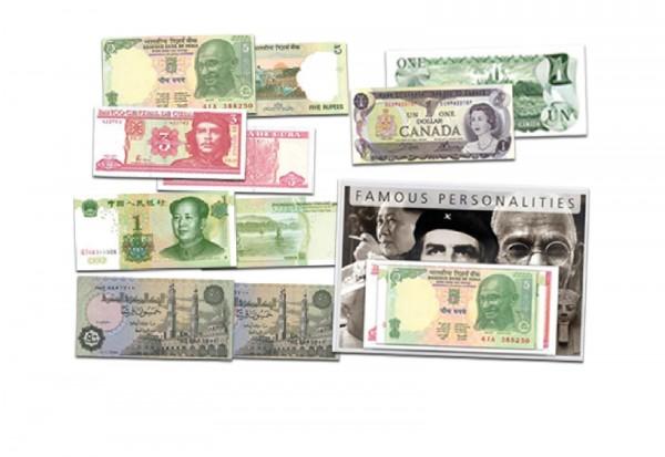 Banknoten-Sammlung: Berühmte Persönlichkeiten