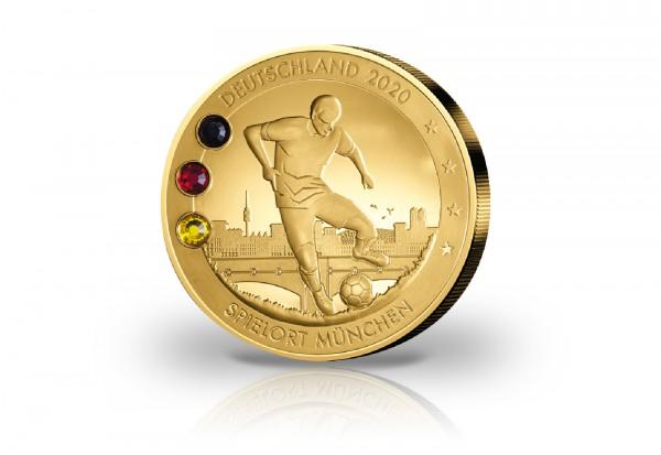 Gigantenprägung Europameisterschaft 2020 veredelt mit 24 Karat Goldauflage