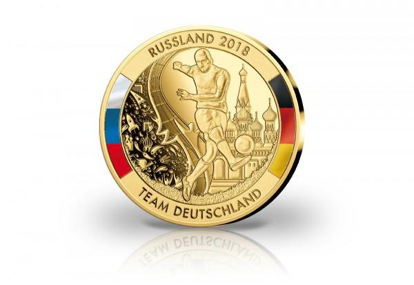 Giganten-Prägung Fußball-WM 2018 Team Deutschland