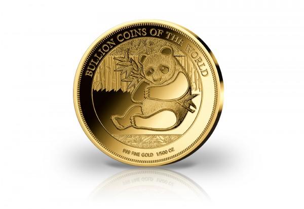 Goldmünze Motiv Panda 1/500 oz