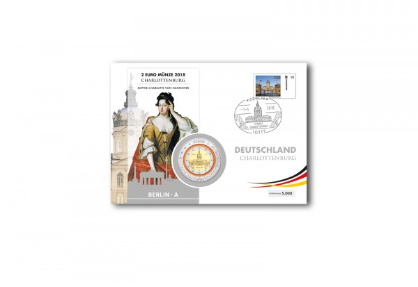 Polymer-Ausgabe 2018 Charlottenburg im Numisbrief Prägestätte A (Berlin)