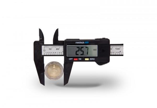 Schiebelehre mit LCD-Display für Münzen inkl. Batterie