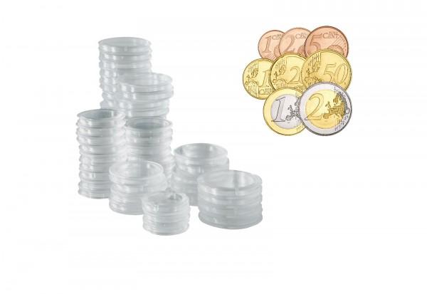 40 Münzkapseln für 5 Eurosätze von 1 Cent - 2 Euro
